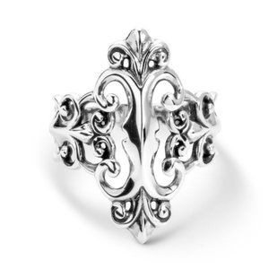 CAROLYN POLLACK STERLING SILVER FILIGREE RING